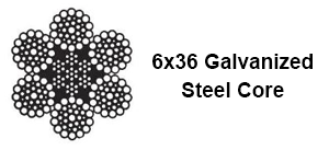 Galvanized-wire-rope-6x36-steel-core