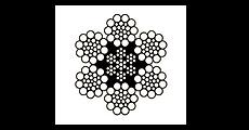 6x19 Galv. Fiber Core