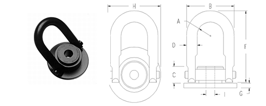 Round Base Swivel Hoist Rings