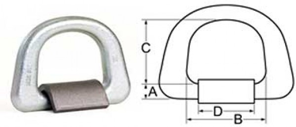 Lashing D Ring FORGED - Galvanized For Offshore Use