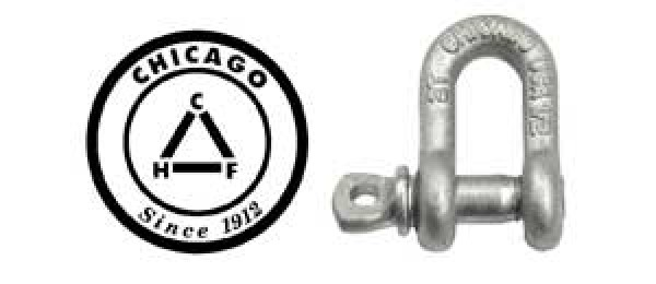 Chicago Hardware Galvanized Screw Pin Chain Shackle -USA