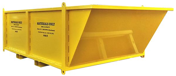 Slanted Material Bin — Heavy Duty - 4'x8'x4'
