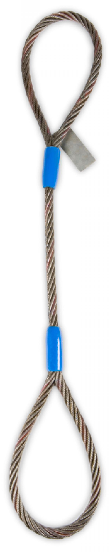 """1"""" Eye & Eye Wire Rope Sling - 19,600(lbs) Vertical WLL"""