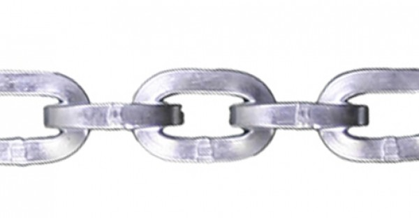 """1/2"""" Zinc Plated Security Chain - Sold By The Foot 318650"""