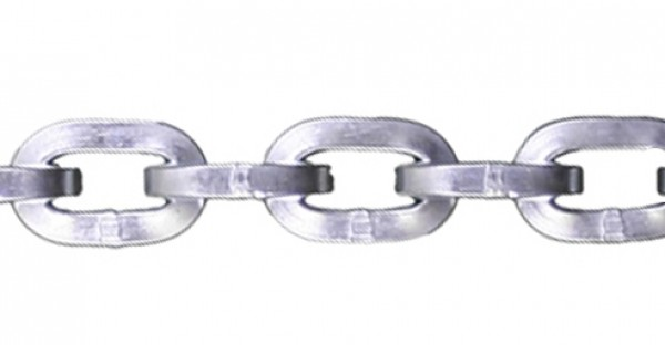 "3/8"" Zinc Plated Security Chain - Sold By The Foot 318600"