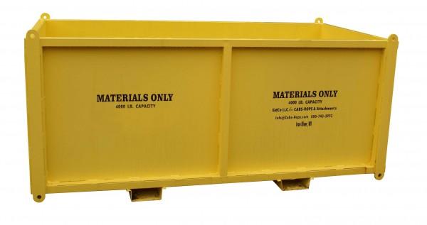 Straight Material Bin — 4'x8'x4' SMB484