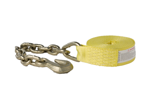 "2"" x 27' Replacement Strap w/ Chain & Grab Hook"