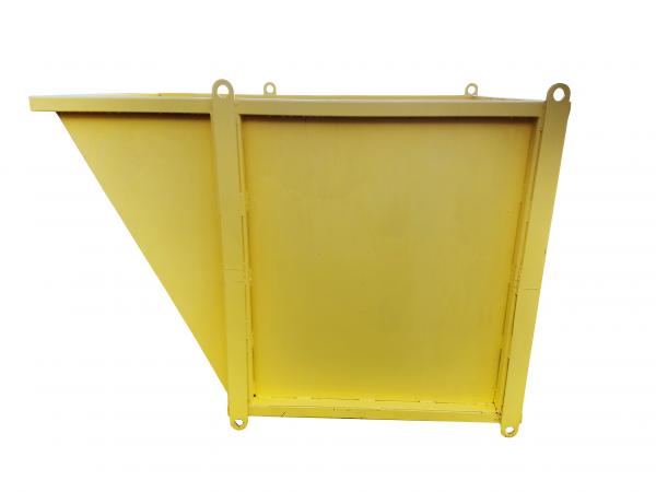 Slanted Material Bin — 4'x4'x3' SLMB443