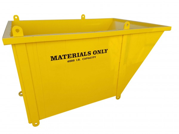 Slanted Material Bin — 4'x4'x4' SLMB444