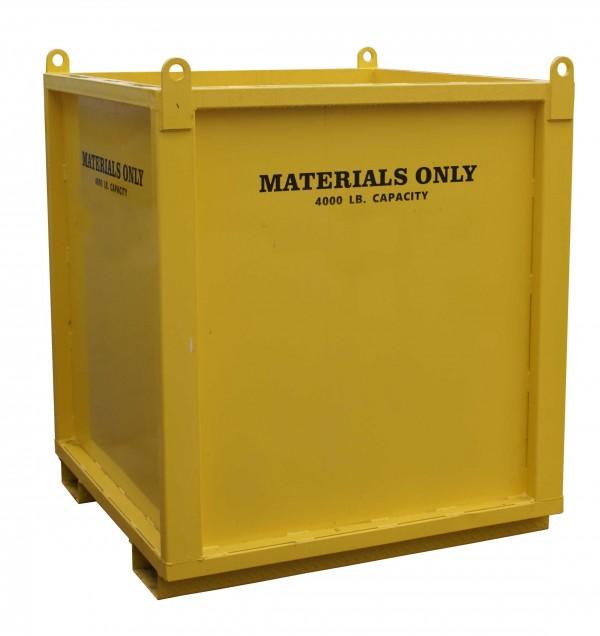 Straight Material Bin — 4'x4'x4' SMB444
