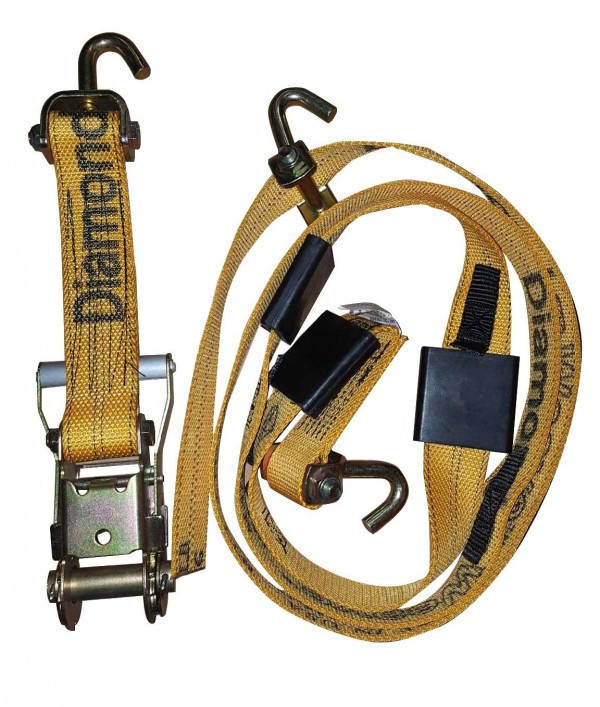 """Over Tire Strap, 2"""" Web, Cleats, with Swivel J Hooks 302536"""