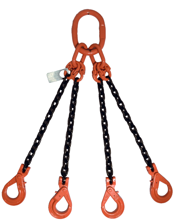 4 Leg With Self Locking Hook QOSL GR-100 Chain Sling
