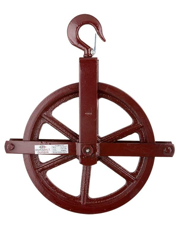 "12"" Hoisting Block/Gin Wheel - Up to 7/8"" Rope 171100"