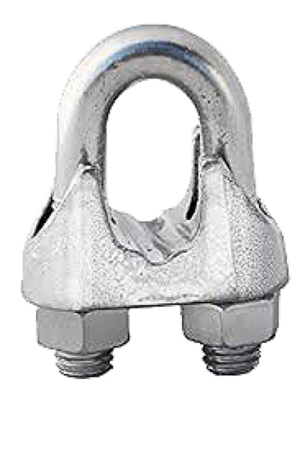 Malleable Wire Rope Clips - Zinc Plated