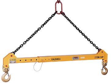 10 Ton Adjustable Spreader Bar With Top Rigging 32 10 6