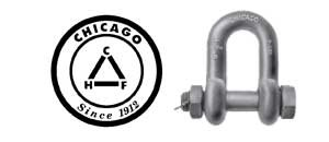 Chicago Galvanized Bolt Type Chain Shackle -USA