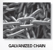 "3/8"" PROOF COIL CHAIN Galv 330100"