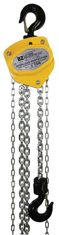 1/2 Ton OZ Chain Hoist with Overload Protection OZ005CHOP
