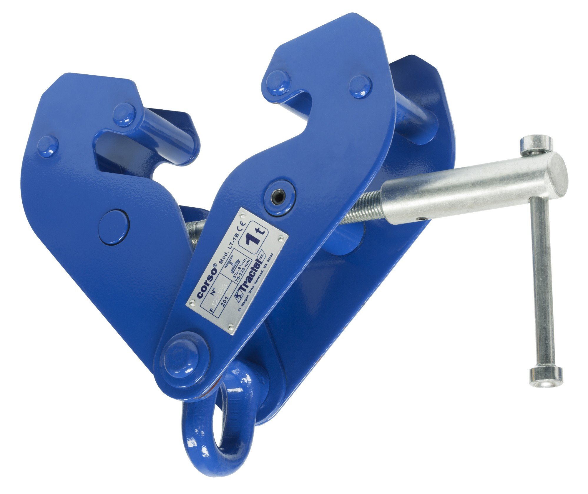 TRACTEL BEAM CLAMP: 10 TON BEAM CLAMP w/LIFTING EYE