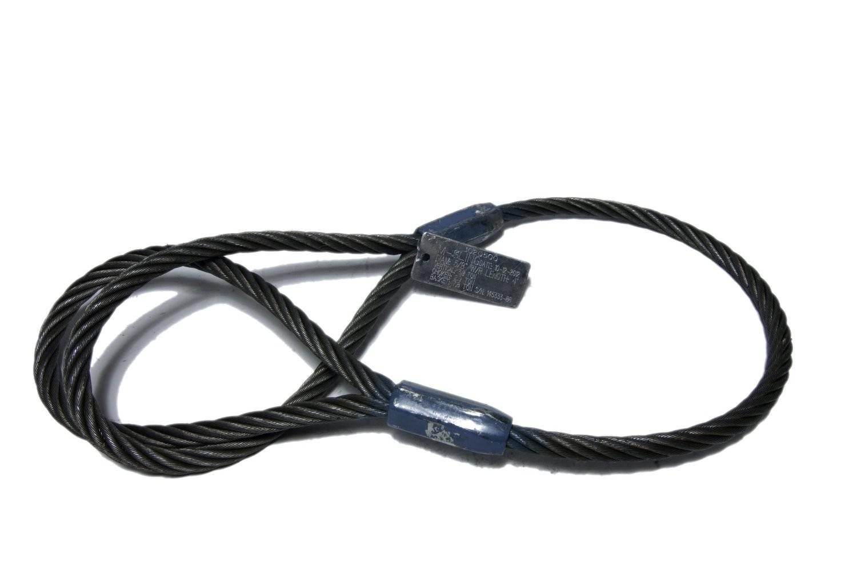 "Eye & Eye Wire Rope Sling: 3/8"" x 12'"