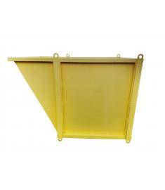 Slanted Material Bin — 4'x4'x3'