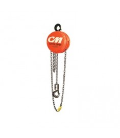 CM Cyclone Hand Chain Hoist 10 ton Ton Capacity 20' Lift #4741