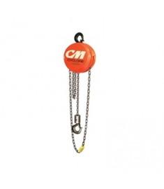 CM Cyclone Hand Chain Hoist 1 Ton Capacity 20' Lift #4734