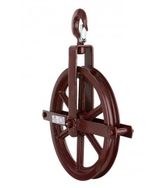 "12"" Hoisting Block/Gin Wheel - Up to 7/8"" Rope 171100"