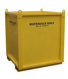 Straight Material Bin — 4'x4'x3'