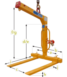 Crane Pallet Lifter - 5500 lbs. PL25