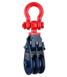 M4090 - Double Sheave Snatch Block With Shackle