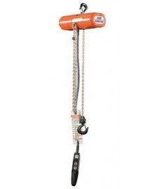 CM Lodestar Electric Hoist 10' lift 1 ton Capacity 230/460-3-60 Voltage #3525