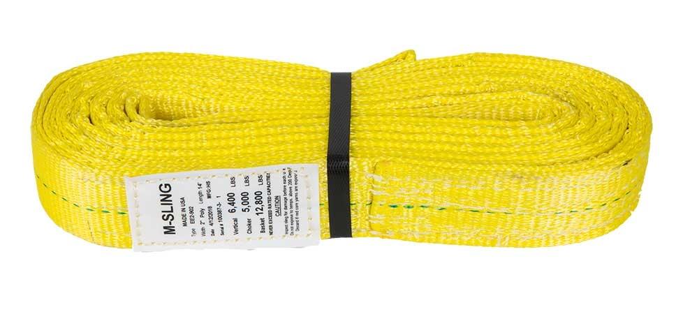 "2/"" x 5/' Polyester Web Lifting Sling Tow Strap 1 Ply EE1-902 Eye /& Eye"
