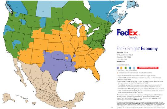 FedEx Economy Transit Times