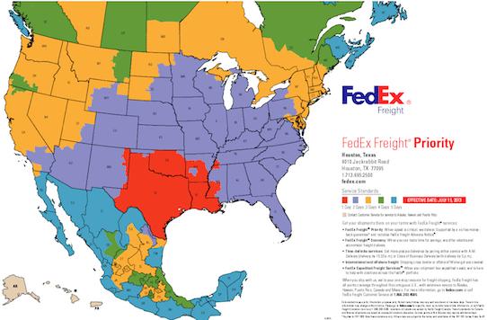 FedEx Priority Transit Times
